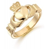9ct Gold Claddagh Ring-136A