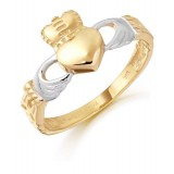9K Gold Claddagh Ring-CL12