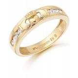 9ct Gold Claddagh Wedding Band - CL27