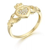 9ct Gold Claddagh Ring - CL33