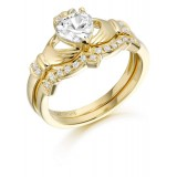 9ct Gold Claddagh Ring - CL34