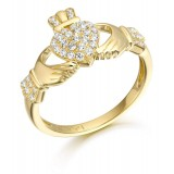 9ct Gold Claddagh Ring - CL39
