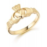 9ct Gold Claddagh Ring - CL8