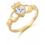 9ct Gold Claddagh Ring - D35