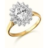 9ct Gold Lady Di style CZ Ring-MC42