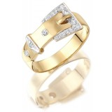 9ct Gold Buckle Ring - MC53