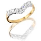 9ct Gold Wish Bone Ring - MC6