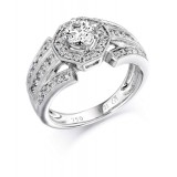 Diamond Engagement Ring-MC517W