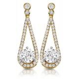 9ct Gold Allure CZ Earrings-MCE296