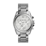 Michael Kors Silver Color Stainless Steel Blair Glitz Watch MK5165