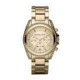 Michael Kors Golden Stainless Steel Blair Glitz Watch MK5166