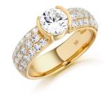 9ct Gold Etoile CZ Ring-MC111