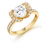 9ct Gold Butterfly CZ Ring-MC128