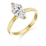 9ct Gold Marquee CZ Ring-MC135