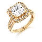 9ct Gold Cleopatra CZ Ring-MC27