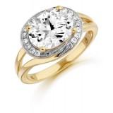 9ct Gold Elite CZ Ring-MC293
