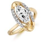9ct Gold Vanity CZ Ring-MC297