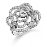 9ct Gold Rosette Cocktail Ring-MC302W