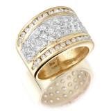 9ct Gold Cluster CZ Dress Ring-MC47