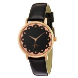 Kate Spade New York Metro Black & Rose Gold Watch 1YRU0583