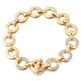 9ct Gold CZ Bracelet - B1