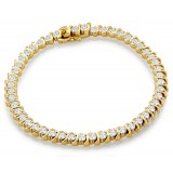 9ct Gold CZ Bracelet - B136