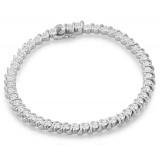 9ct Gold CZ Bracelet - B136W