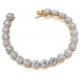 9ct Gold CZ Bracelet - B146