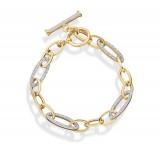 9ct Gold CZ Bracelet - B168
