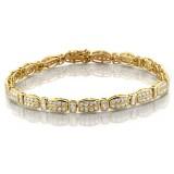 9ct Gold CZ Bracelet - B26