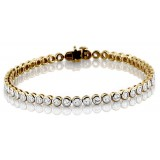 9ct Gold CZ Bracelet - B65