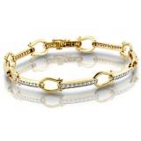 9ct Gold CZ Bracelet - B67