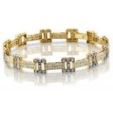 9ct Gold CZ Bracelet - B68