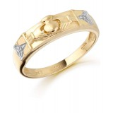 9ct Gold Claddagh Wedding Band - CL14