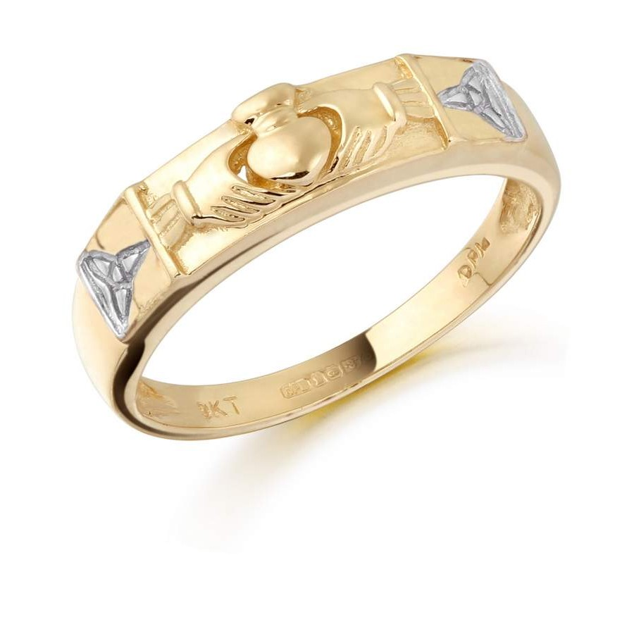 claddagh rings 9ct gold claddagh wedding band cl14