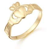 9ct Gold Claddagh Ring - CL24