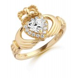 9ct Gold Claddagh Ring - CL28