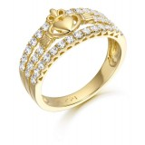 9ct Gold Claddagh Ring - CL31