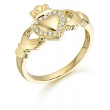 9ct Gold Claddagh Ring - CL32
