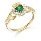 9ct Gold Claddagh Ring - CL36