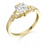 9ct Gold Claddagh Ring - CL37
