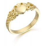 9ct Gold Claddagh Ring - CL40