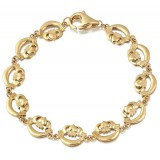 9ct Gold Claddagh Bracelet-CLB4