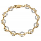 9ct Gold Claddagh Bracelet - CLB4CZ