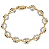 9ct Gold Claddagh Bracelet - CLB4G
