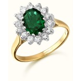 9ct Gold Lady Di style CZ Ring-MC42G