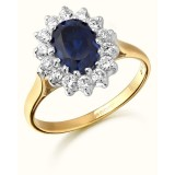 9ct Gold Lady Di style CZ Ring-MC42S