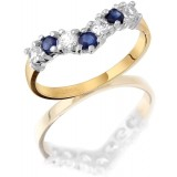 9ct Gold Wish Bone Ring-MC6S