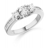 Diamond Engagement Ring-MC306W