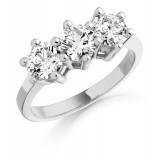 Trilogy Diamond Engagement Ring-MC322W